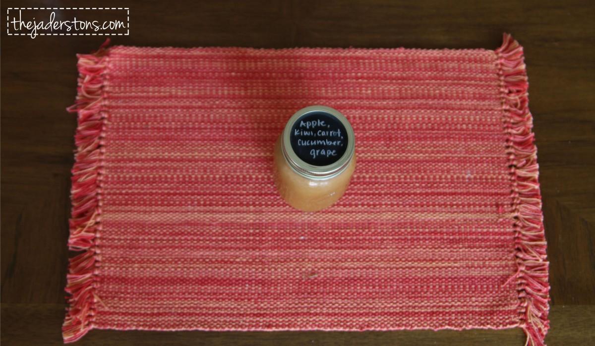 Chalkboard Mason Jar Lids