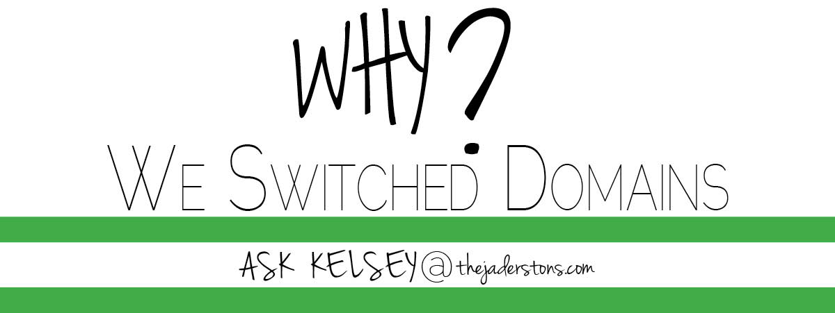 Why We Switched Domains