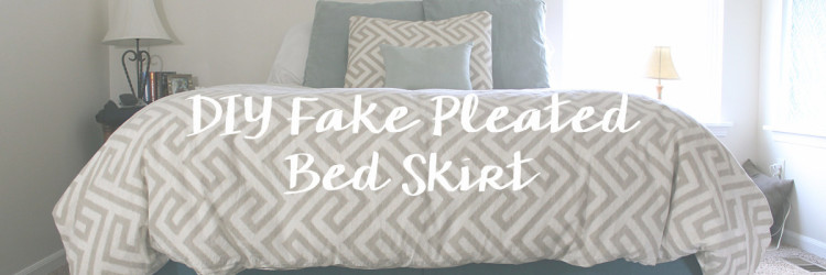Make Your Own {fake} Pleated Bedskirt