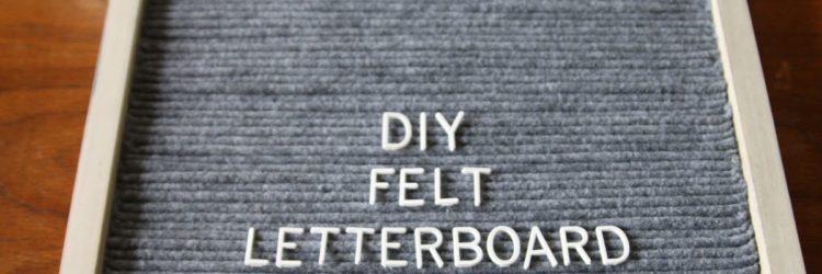 DIY Felt Letterboard
